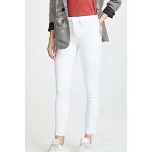 Paige Hoxton Ankle White Ankle Cropped Jeans 24